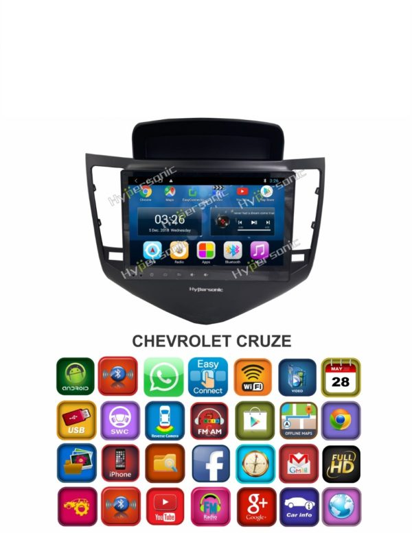 Hypersonic Chevrolet Cruze Android Stereo