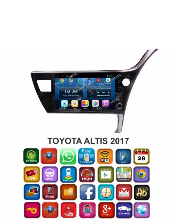 Hypersonic Toyota Altis Android Stereo