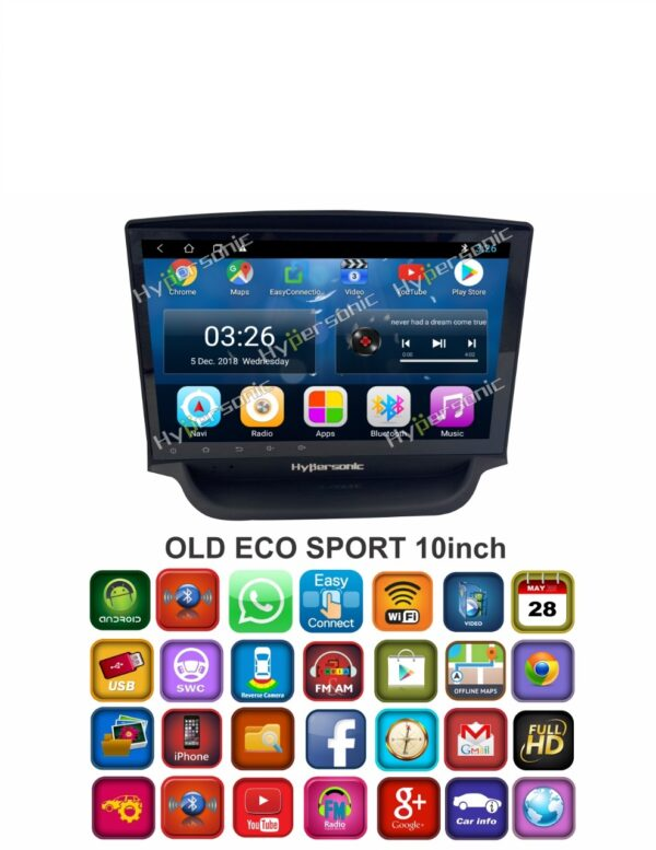 Hypersonic Ford Old Ecosport Android Stereo