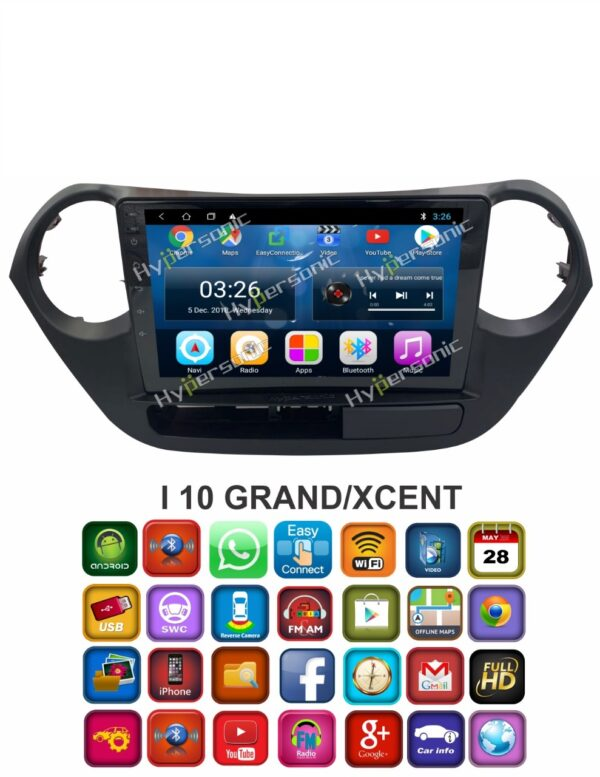 Hypersonic Hyundai New i10 Android Stereo