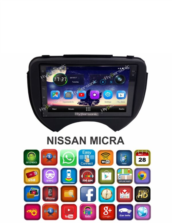 Hypersonic Nissan Micra Android Stereo