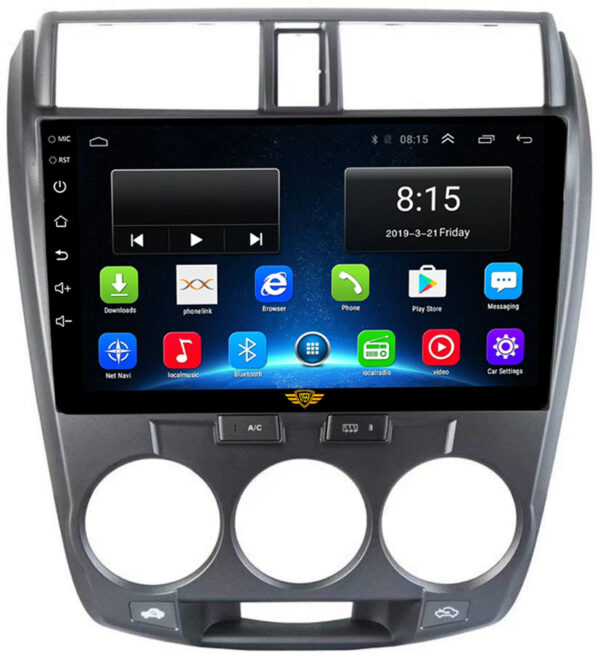 Ateen Double-Din Car Android Music System For Honda City iVtec 2011