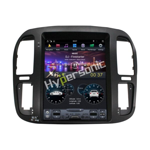 Hypersonic Land Cruiser Low-End 1998-2002 Tesla Android Player